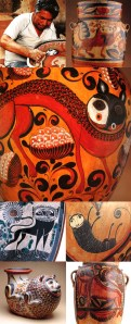 mexican nagual or nahual spirt animal ceramic