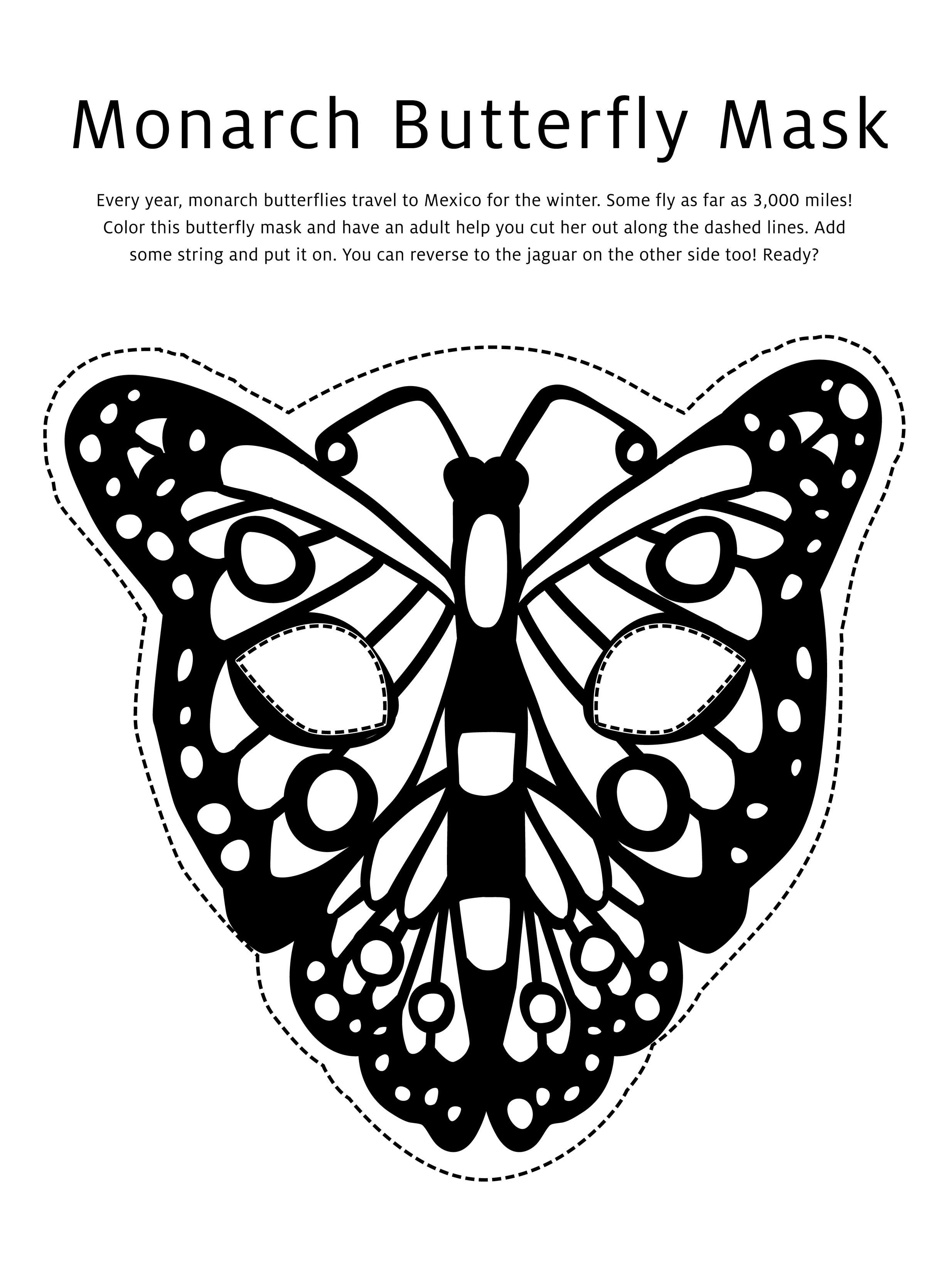 Butterfly Mask Coloring Page Studio Tea Blog Tea Collection