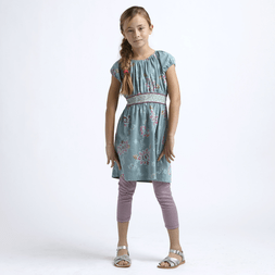 lotus vines girls dress