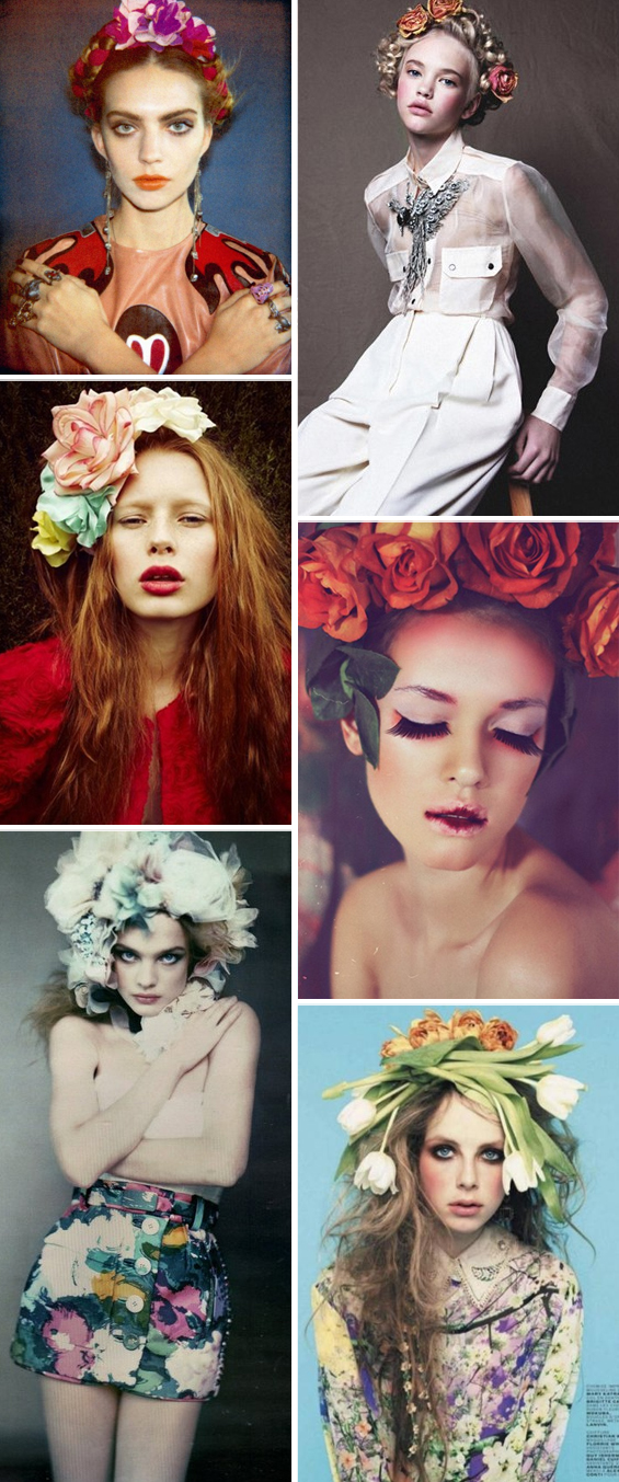 flowers in hair fashion trend