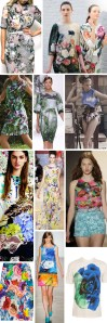 floral botanical photo real dresses tunic tops