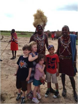 Travel with Kids to Maasai Kraal