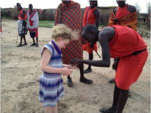 American Girl with Massi villager