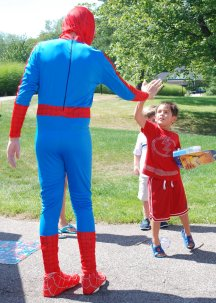 boy with spiderman