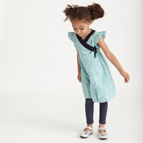HANJI FLORAL WRAP Girls DRESS