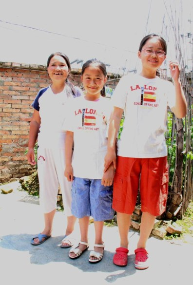 Kids in Tea clothes in China