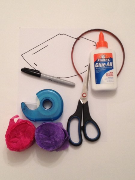 supplies for diy nye hat