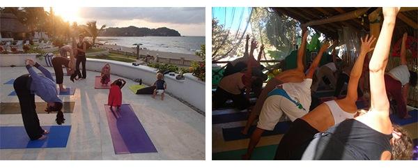 Yoga in Sayulita, Mexico via Tea Collection's Studio T