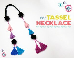 DIY Tassel Necklace via Tea Collection