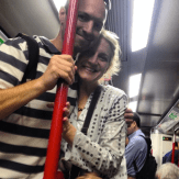 Parents on Train