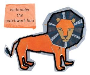 DIY embroider lion