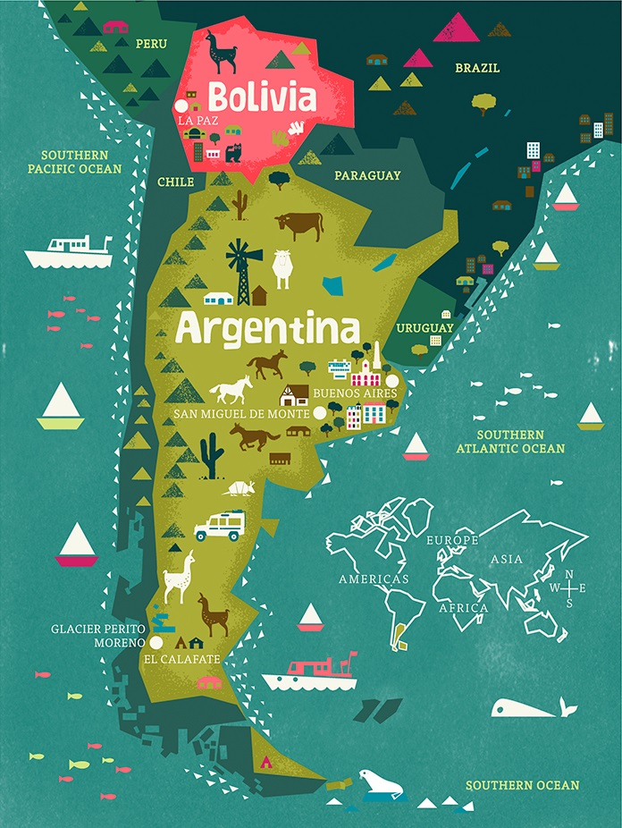 Traveling To Argentina And Bolivia Studio T Blog - Argentina travel map