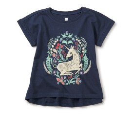 Girls Unicorn Cuffed Top