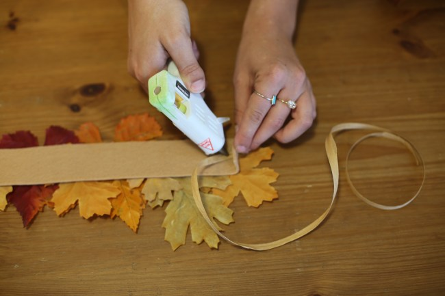Fall DIY Leaf Crown How To