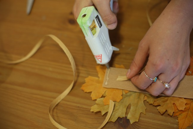 Fall DIY Leaf Crown How To