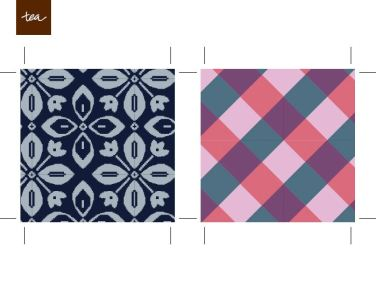 DIY Tile Coaster Tea Pattern