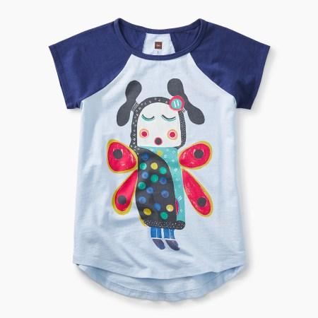 Lomayesva Butterfly Girl Graphic Tee