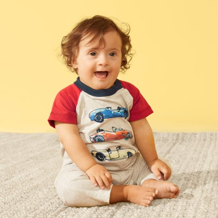 Race Car Raglan Romper