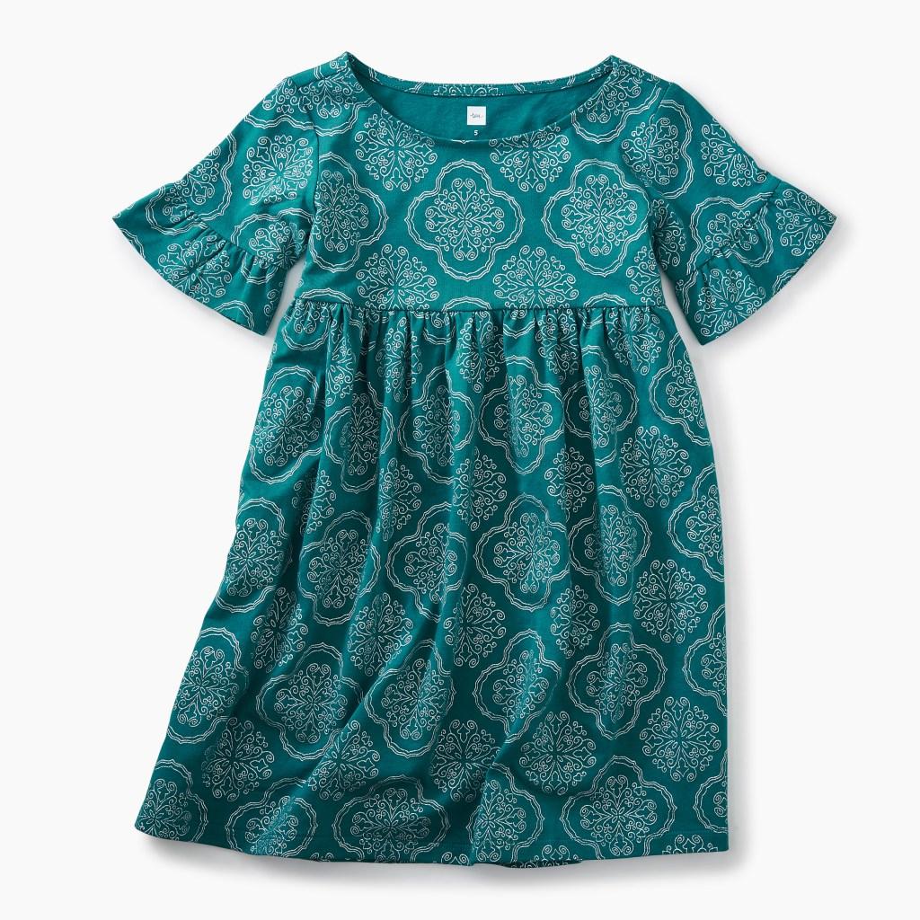 Ruffle Sleeve Knit Dress