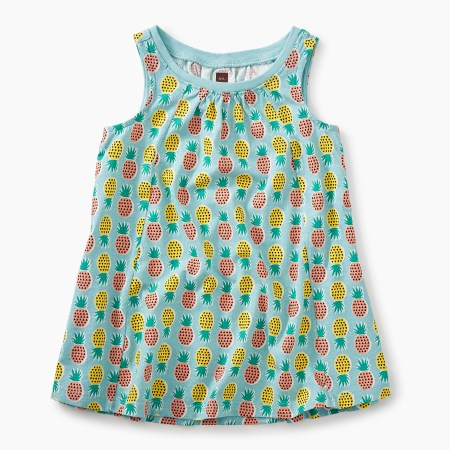Pop-Color Pineapples Trapeze Dress