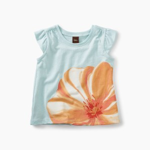 Large Flower Graphic Baby Tee