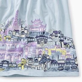 City Graphic Trapeze Dress