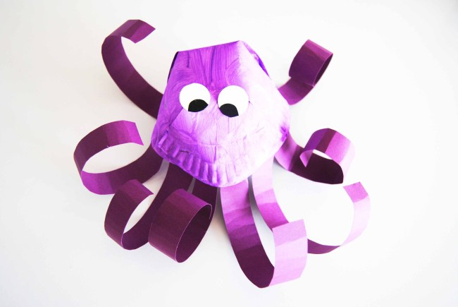 Paper Plate Octopus Finished