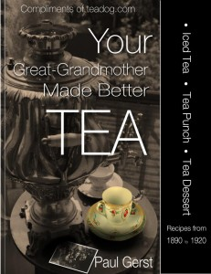 Free ebook on Tea Drink Recipes from 1890 to 1920