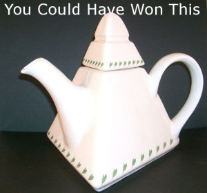 pg tips teapot text over