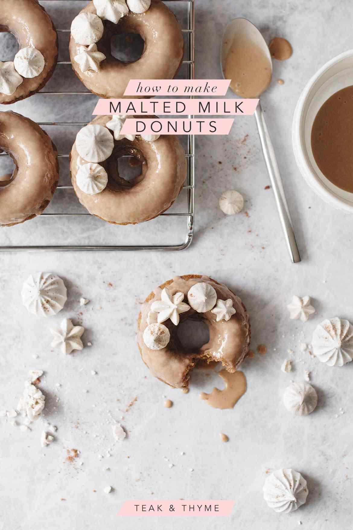 Malted Milk Donuts   Teak & Thyme