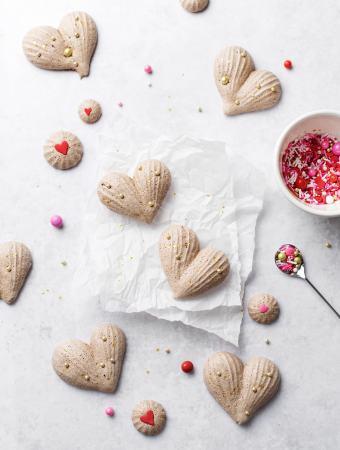 Heart-Shaped Chocolate Meringues   Teak & Thyme