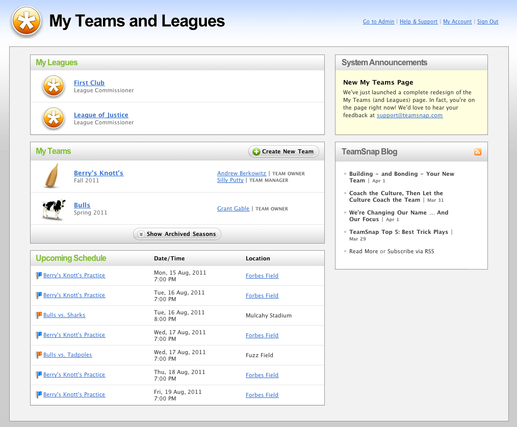 Introducing Your AllNew My Teams and Leagues Page