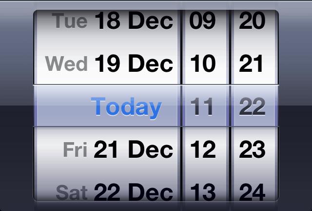 Input type datetime iOS