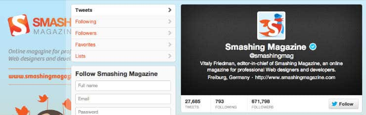 Smashing Mag Twitter