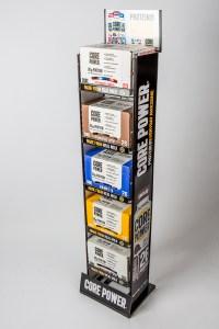 tebo store fixtures custom core power shelf