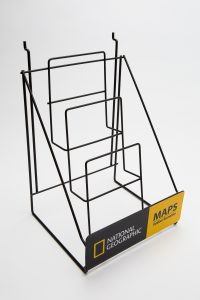 tebo store fixtures custom national geographic stand