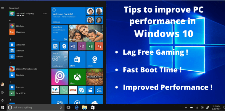 windows performace