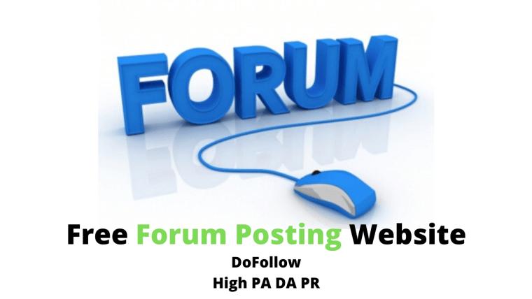free forum posting website