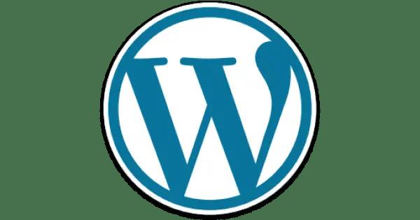wordpress blue and white and grey logo