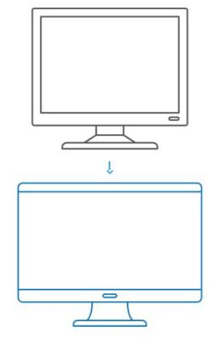 Monitores 800x600 e 1900x600