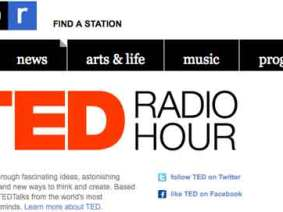 TED Radio Hour brings great ideas to NPR stations. Premiere: April 27