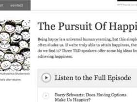"""The Pursuit of Happiness"" — listen now to TED Radio Hour Episode 2"