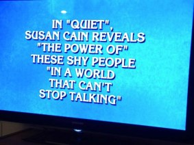 Susan Cain makes last night's episode of Jeopardy