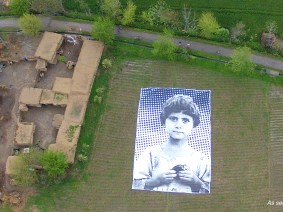 Not a bug splat: This massive portrait is a message to drone operators