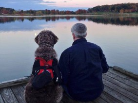 The veteran and the labradoodle: How a service dog helped a TEDActive attendee step back out into the world
