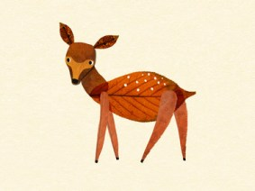 An animated lesson full of adorable animals made of autumn leaves