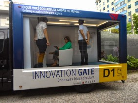 Delta's Innovation Gate takes a spin through São Paulo, collecting ideas as it goes