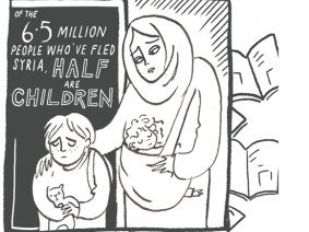 This infographic shows what it's like to be a modern refugee