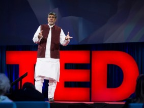 """I'm urging you to be angry"": Kailash Satyarthi live at TED2015"