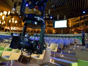 Meet the Spidercam, a device to help us capture talks while preserving the live TED2015 experience